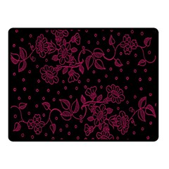 Pink Floral Pattern Background Double Sided Fleece Blanket (small)  by Nexatart