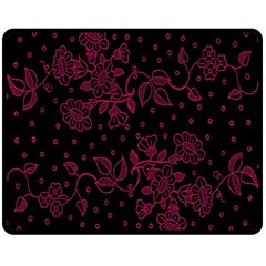 Pink Floral Pattern Background Double Sided Fleece Blanket (medium)  by Nexatart