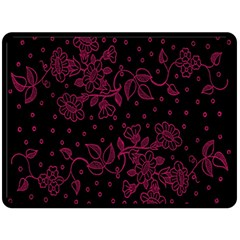 Pink Floral Pattern Background Double Sided Fleece Blanket (large)  by Nexatart