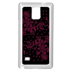 Pink Floral Pattern Background Samsung Galaxy Note 4 Case (white)
