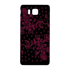 Pink Floral Pattern Background Samsung Galaxy Alpha Hardshell Back Case by Nexatart