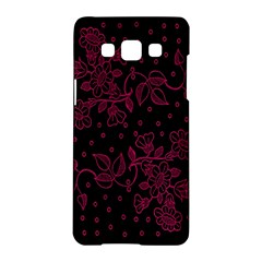 Pink Floral Pattern Background Samsung Galaxy A5 Hardshell Case  by Nexatart