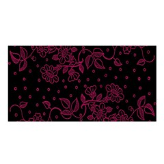 Pink Floral Pattern Background Satin Shawl by Nexatart