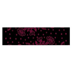 Pink Floral Pattern Background Satin Scarf (oblong)