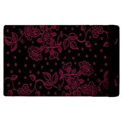 Pink Floral Pattern Background Apple Ipad Pro 9 7   Flip Case