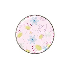 Pretty Summer Garden Floral Bird Pink Seamless Pattern Hat Clip Ball Marker by Nexatart