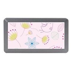 Pretty Summer Garden Floral Bird Pink Seamless Pattern Memory Card Reader (mini) by Nexatart