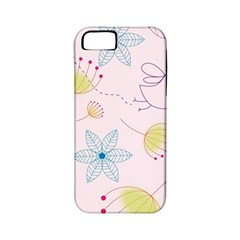 Pretty Summer Garden Floral Bird Pink Seamless Pattern Apple Iphone 5 Classic Hardshell Case (pc+silicone)