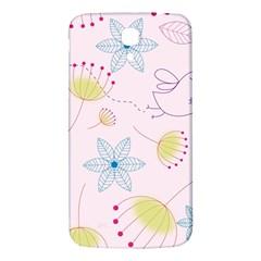 Pretty Summer Garden Floral Bird Pink Seamless Pattern Samsung Galaxy Mega I9200 Hardshell Back Case by Nexatart