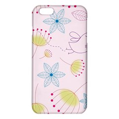 Pretty Summer Garden Floral Bird Pink Seamless Pattern Iphone 6 Plus/6s Plus Tpu Case