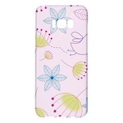 Pretty Summer Garden Floral Bird Pink Seamless Pattern Samsung Galaxy S8 Plus Hardshell Case