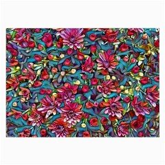 Lovely Floral 31a Large Glasses Cloth (2 Side) by MoreColorsinLife