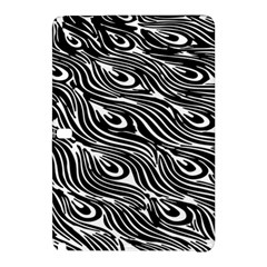 Digitally Created Peacock Feather Pattern In Black And White Samsung Galaxy Tab Pro 10 1 Hardshell Case
