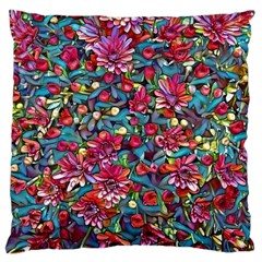 Lovely Floral 31a Large Cushion Case (one Side) by MoreColorsinLife