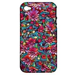 Lovely Floral 31a Apple Iphone 4/4s Hardshell Case (pc+silicone) by MoreColorsinLife