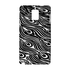 Digitally Created Peacock Feather Pattern In Black And White Samsung Galaxy Note 4 Hardshell Case