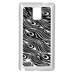 Digitally Created Peacock Feather Pattern In Black And White Samsung Galaxy Note 4 Case (white)
