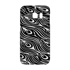 Digitally Created Peacock Feather Pattern In Black And White Galaxy S6 Edge by Nexatart