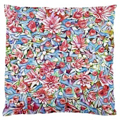 Lovely Floral 31f Large Cushion Case (one Side) by MoreColorsinLife