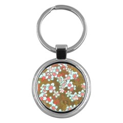 Lovely Floral 29 A Key Chains (round)  by MoreColorsinLife