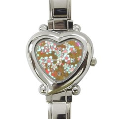 Lovely Floral 29 A Heart Italian Charm Watch by MoreColorsinLife