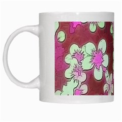 Lovely Floral 29 B White Mugs by MoreColorsinLife