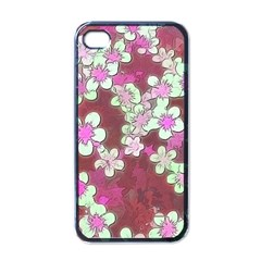 Lovely Floral 29 B Apple Iphone 4 Case (black) by MoreColorsinLife