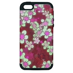 Lovely Floral 29 B Apple Iphone 5 Hardshell Case (pc+silicone) by MoreColorsinLife