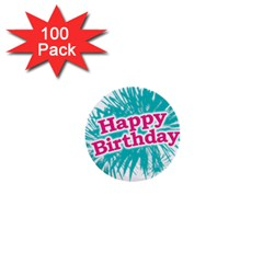 Happy Brithday Typographic Design 1  Mini Buttons (100 Pack)  by dflcprints