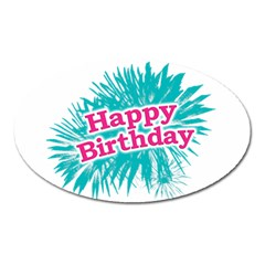 Happy Brithday Typographic Design Oval Magnet by dflcprints