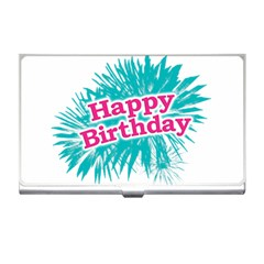 Happy Brithday Typographic Design Business Card Holders by dflcprints