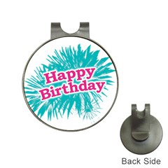 Happy Brithday Typographic Design Hat Clips With Golf Markers by dflcprints