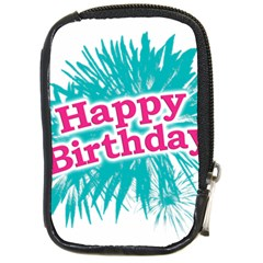 Happy Brithday Typographic Design Compact Camera Cases by dflcprints