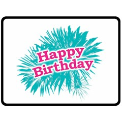 Happy Brithday Typographic Design Fleece Blanket (large)  by dflcprints