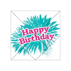 Happy Brithday Typographic Design Acrylic Tangram Puzzle (4  X 4 ) by dflcprints