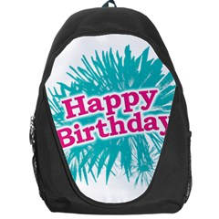 Happy Brithday Typographic Design Backpack Bag by dflcprints