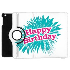 Happy Brithday Typographic Design Apple Ipad Mini Flip 360 Case by dflcprints