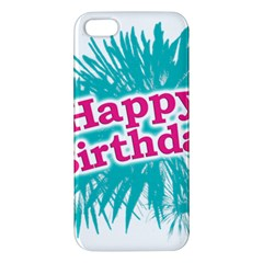 Happy Brithday Typographic Design Apple Iphone 5 Premium Hardshell Case by dflcprints