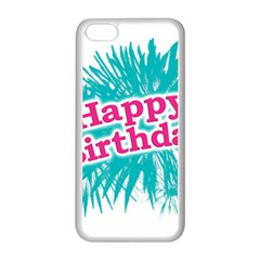 Happy Brithday Typographic Design Apple Iphone 5c Seamless Case (white) by dflcprints