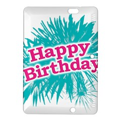 Happy Brithday Typographic Design Kindle Fire Hdx 8 9  Hardshell Case by dflcprints