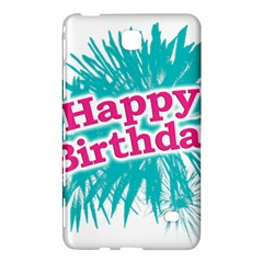 Happy Brithday Typographic Design Samsung Galaxy Tab 4 (8 ) Hardshell Case  by dflcprints