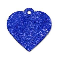 Thick Wet Paint A Dog Tag Heart (two Sides) by MoreColorsinLife