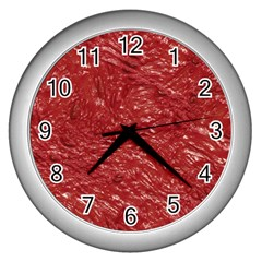 Thick Wet Paint E Wall Clocks (silver)  by MoreColorsinLife