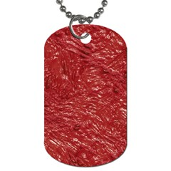 Thick Wet Paint E Dog Tag (two Sides) by MoreColorsinLife
