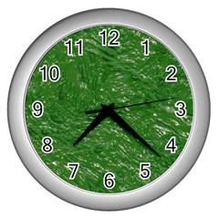 Thick Wet Paint D Wall Clocks (silver)  by MoreColorsinLife