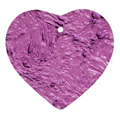 Thick Wet Paint G Heart Ornament (two Sides) by MoreColorsinLife