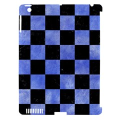 Square1 Black Marble & Blue Watercolor Apple Ipad 3/4 Hardshell Case (compatible With Smart Cover) by trendistuff