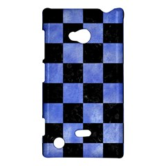 Square1 Black Marble & Blue Watercolor Nokia Lumia 720 Hardshell Case by trendistuff