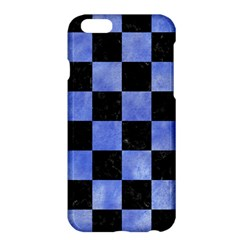 Square1 Black Marble & Blue Watercolor Apple Iphone 6 Plus/6s Plus Hardshell Case by trendistuff