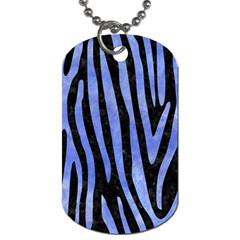 Skin4 Black Marble & Blue Watercolor (r) Dog Tag (one Side) by trendistuff